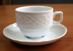 Kaffee-Obertasse 0,18 l + Untere, Porzellan