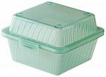 Mehrweg-Hamburger Box, 12,5 x 13 x 8 cm, grün