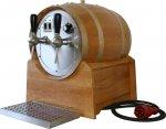 Glühwein-Durchlauferhitzer/Glühweinerhitzer 2-ltg. Holzfass m. elektr. Förderpumpen, versandkostenfrei