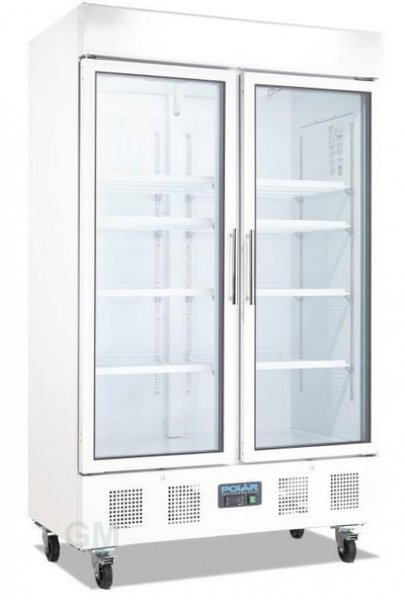 gastro glast ren k hlschrank 944 liter fahrbar 2 t rig wei k hlvitrine cd984 polar gastronoble. Black Bedroom Furniture Sets. Home Design Ideas