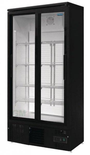Gastro Glastüren-Kühlschrank mit Schiebetüren 490 Liter ...