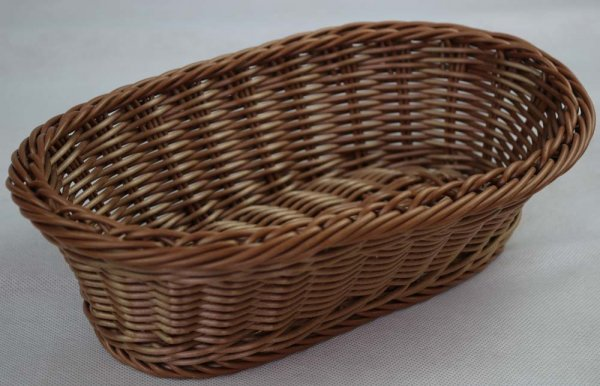 "Brot- und Buffetkorb ""ECONOMIC"" oval 28,5 x 17 cm hellbraun"