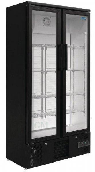 Gastro Glastüren-Kühlschrank mit Klapptüren 490 Liter Barkühlvitrine ...
